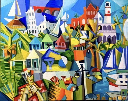 """Winter In Key West"" 22"" x 28"" oil on canvas"