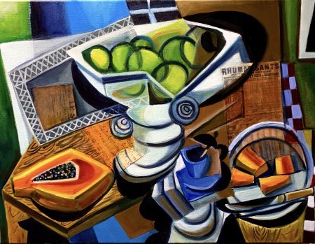 """Papaya And Green Apples"""