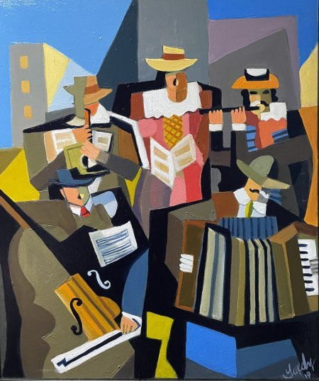 """The Musicians"" 20' x 24"" oil on canvas"